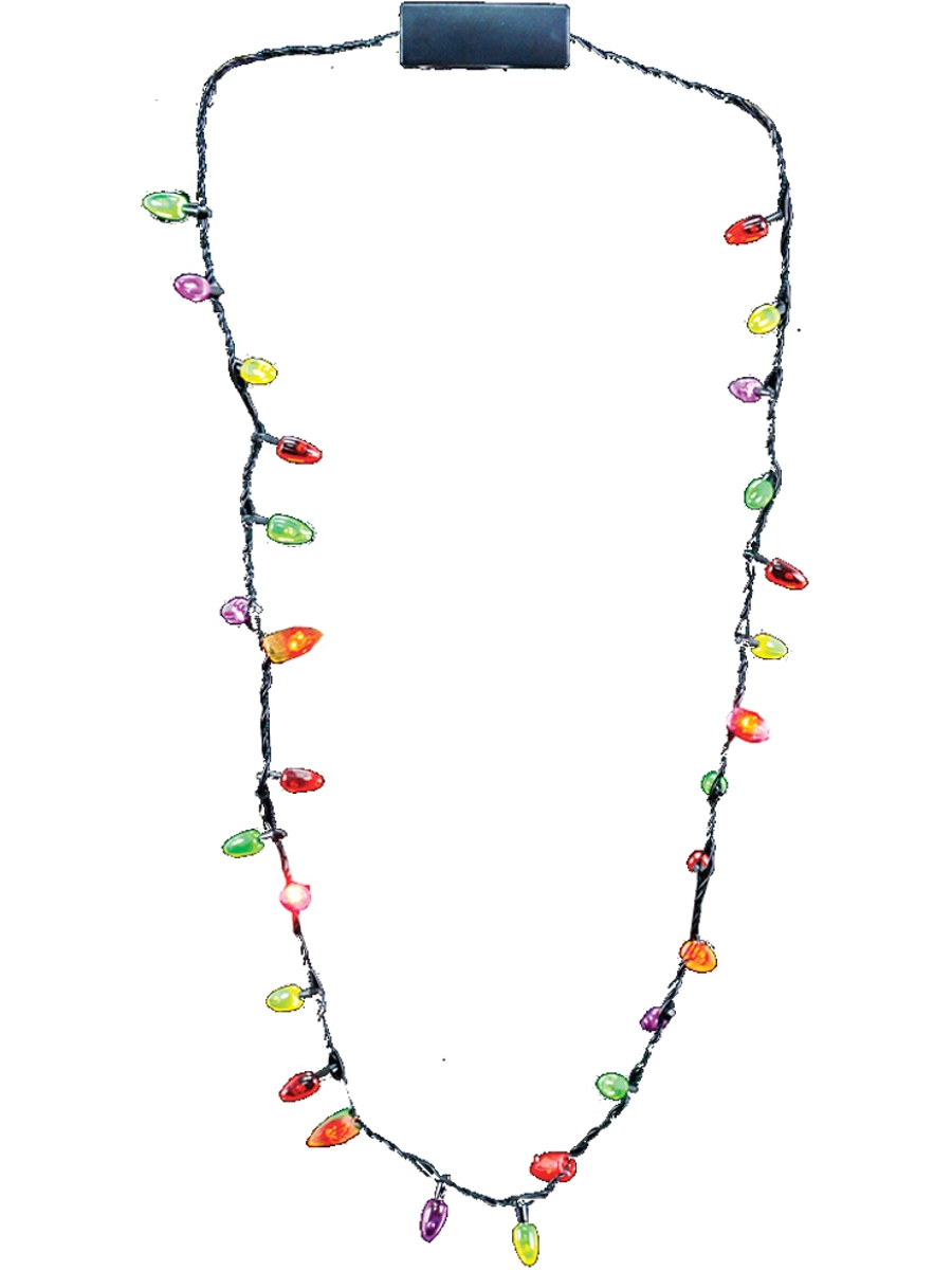 28 mini flashing light up blinking christmas lights costume necklace led bulbs walmart com