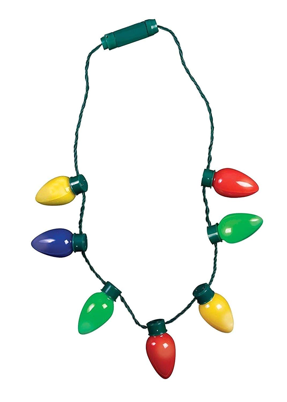 amazon com retro light up christmas bulb necklace flashing led lights christmas gift clothing