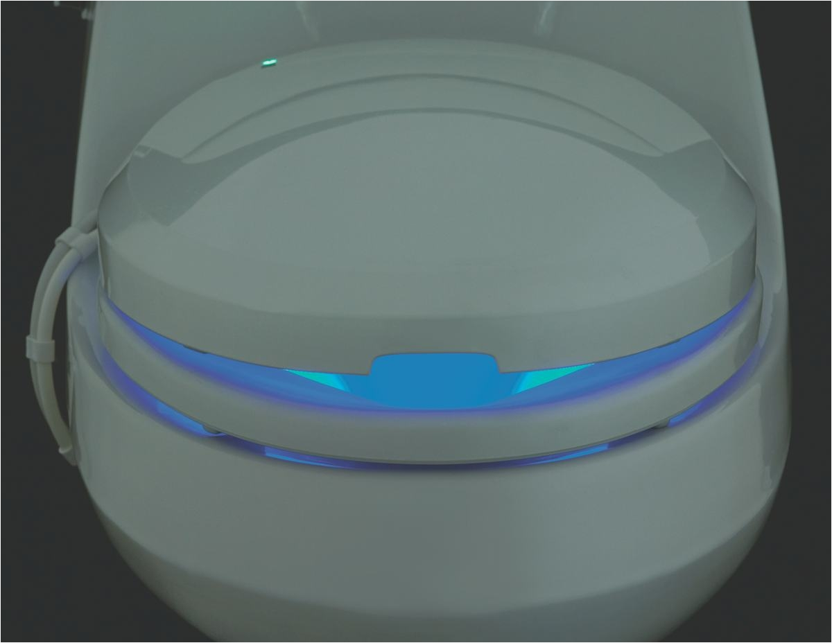 the kohler c3 200 elongated toilet seat features a heated seat with three temperature settings and an integrated night light click each to enlarge