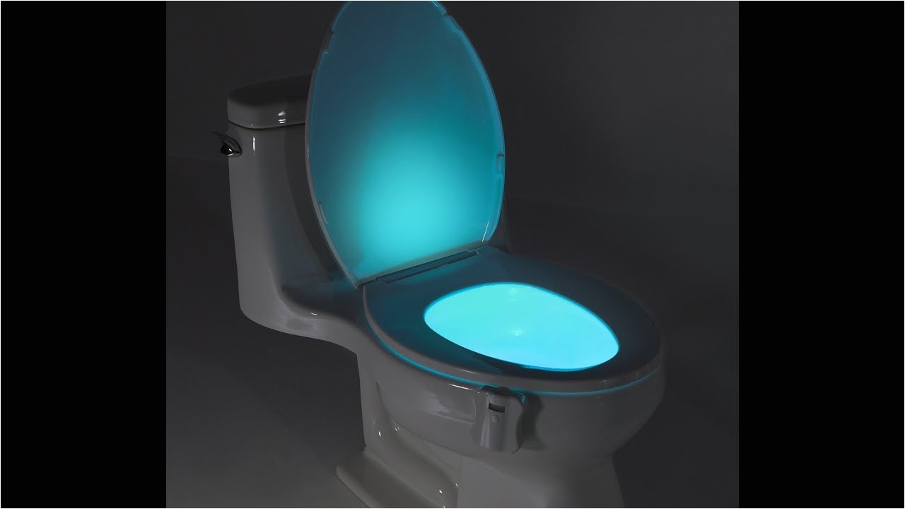 review glowbowl motion activated toilet nightlight fits any toilet youtube