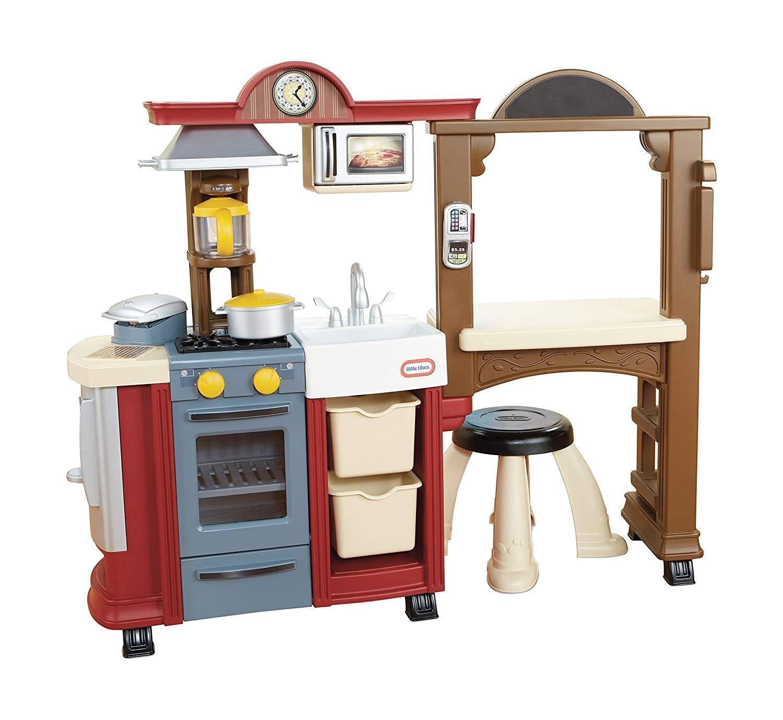 amazon com little tikes kitchen restaurant red multicolored toys games