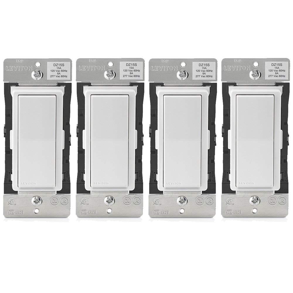 leviton dz15s 1bz decora smart switch with z wave plus technology 4 pack amazon com