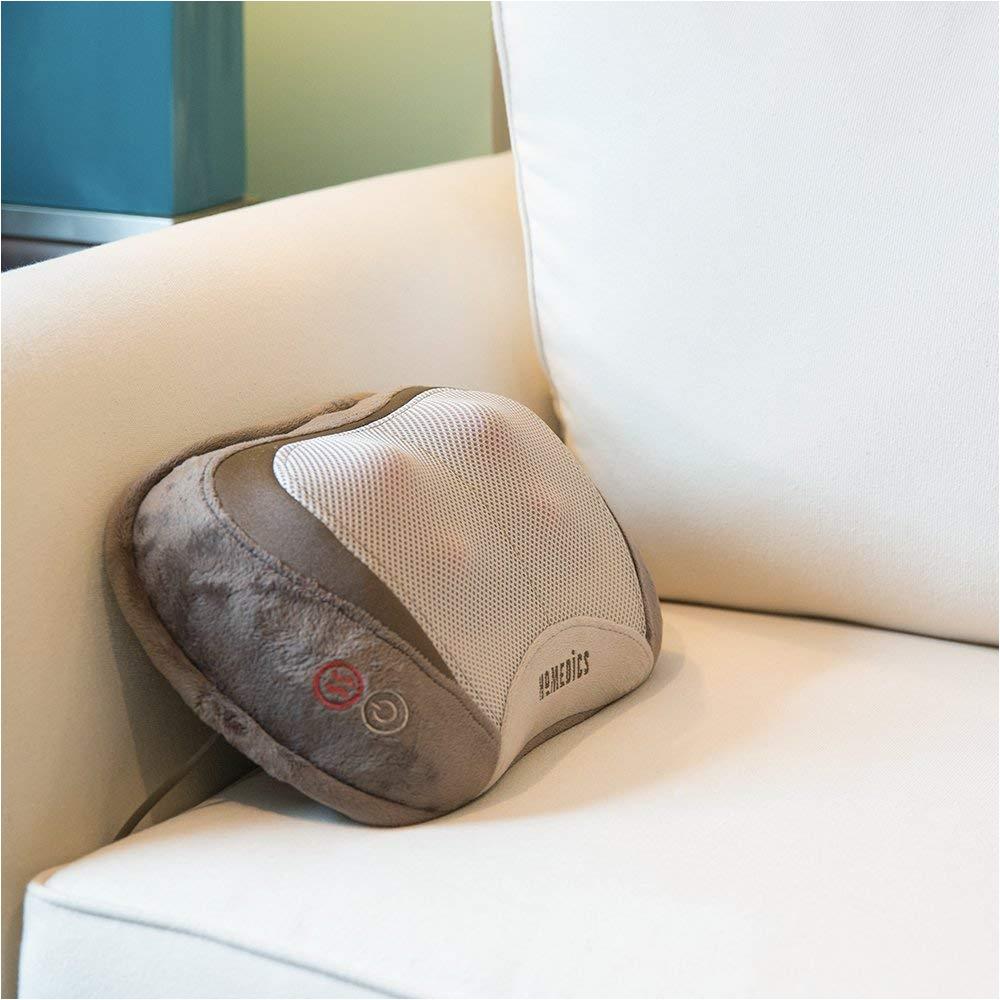 amazon com homedics 3d shiatsu vibration massage pillow with heat heated vibrating massage pad soft fabric versatile use for neck back shoulders