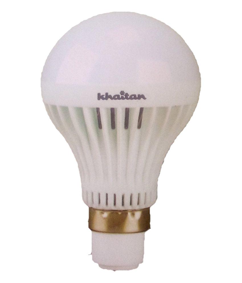 khaitan 5 w led bulb white