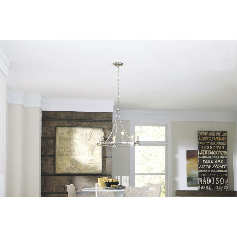 shop allen roth 6 light brushed nickel chandelier at lowes com