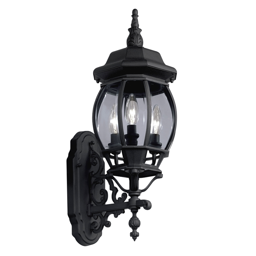 portfolio 22 68 in h black outdoor wall light