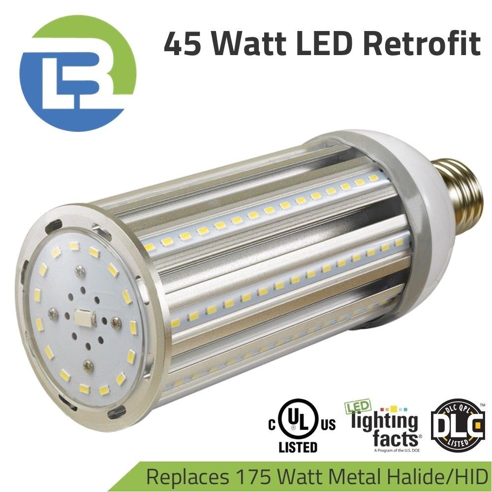 get quotations a· 45 watt led retrofit corn lamp for 175 watt hid metal halide hps replacement