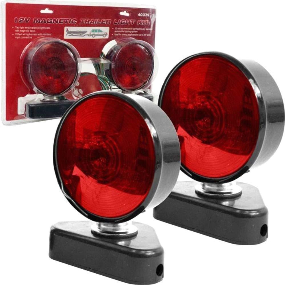 amazon com stalwart 75 1872mc 12v magnetic trailer light kit everything else