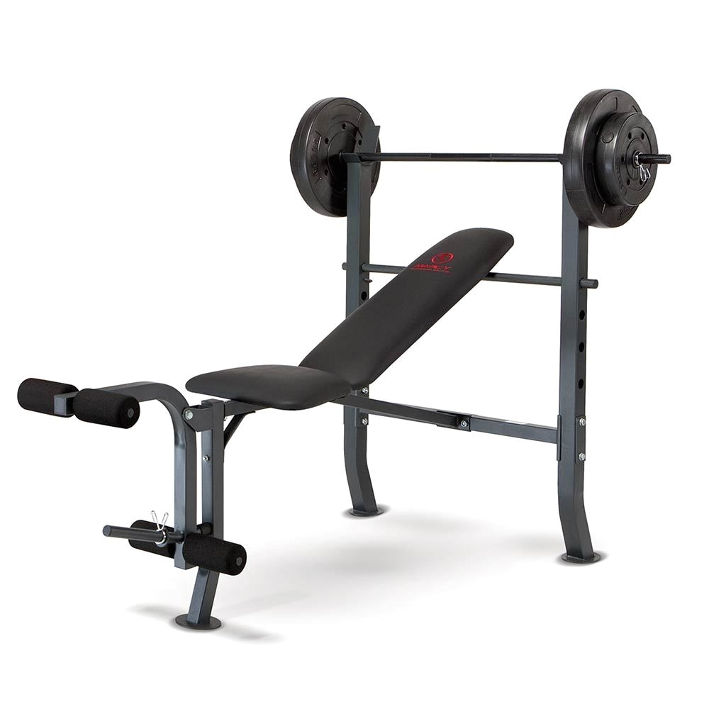 the marcy weight bench 80lb weight set md 2080 by marcy brings the whole gym