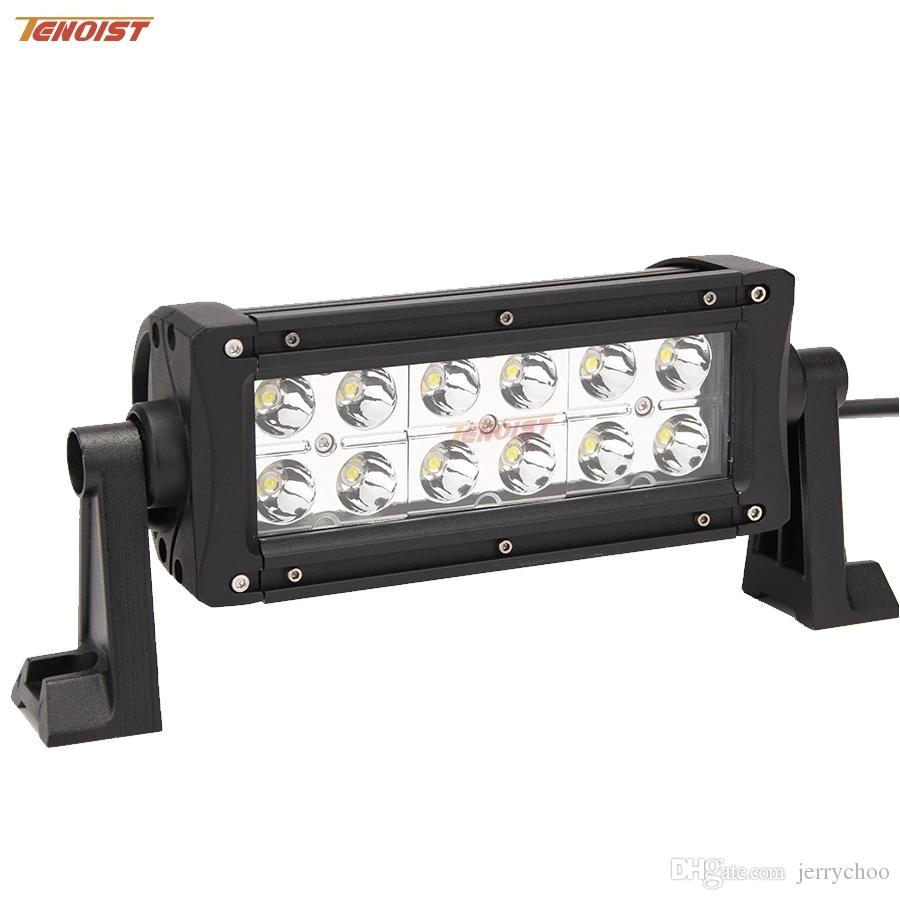 Marine Light Bars Hot Sale 8 Inch 36w Led Dual Rows Light Bar for atv 44 Truck