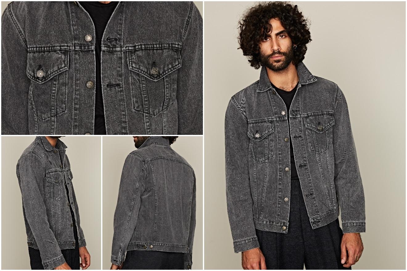 orslow type iii black stonewash trucker jacket tenue de nimes