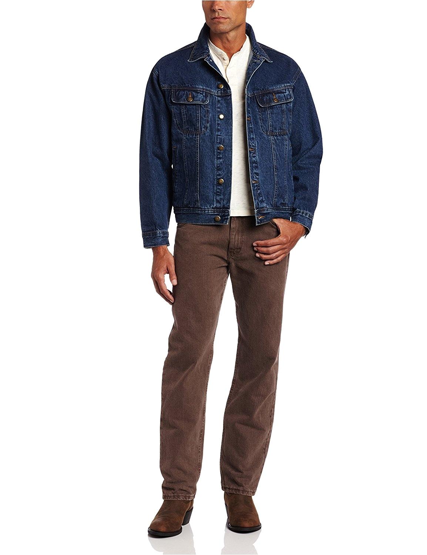 wrangler mens rugged wear unlined denim jacket at amazon mens clothing store blue jean jacket men
