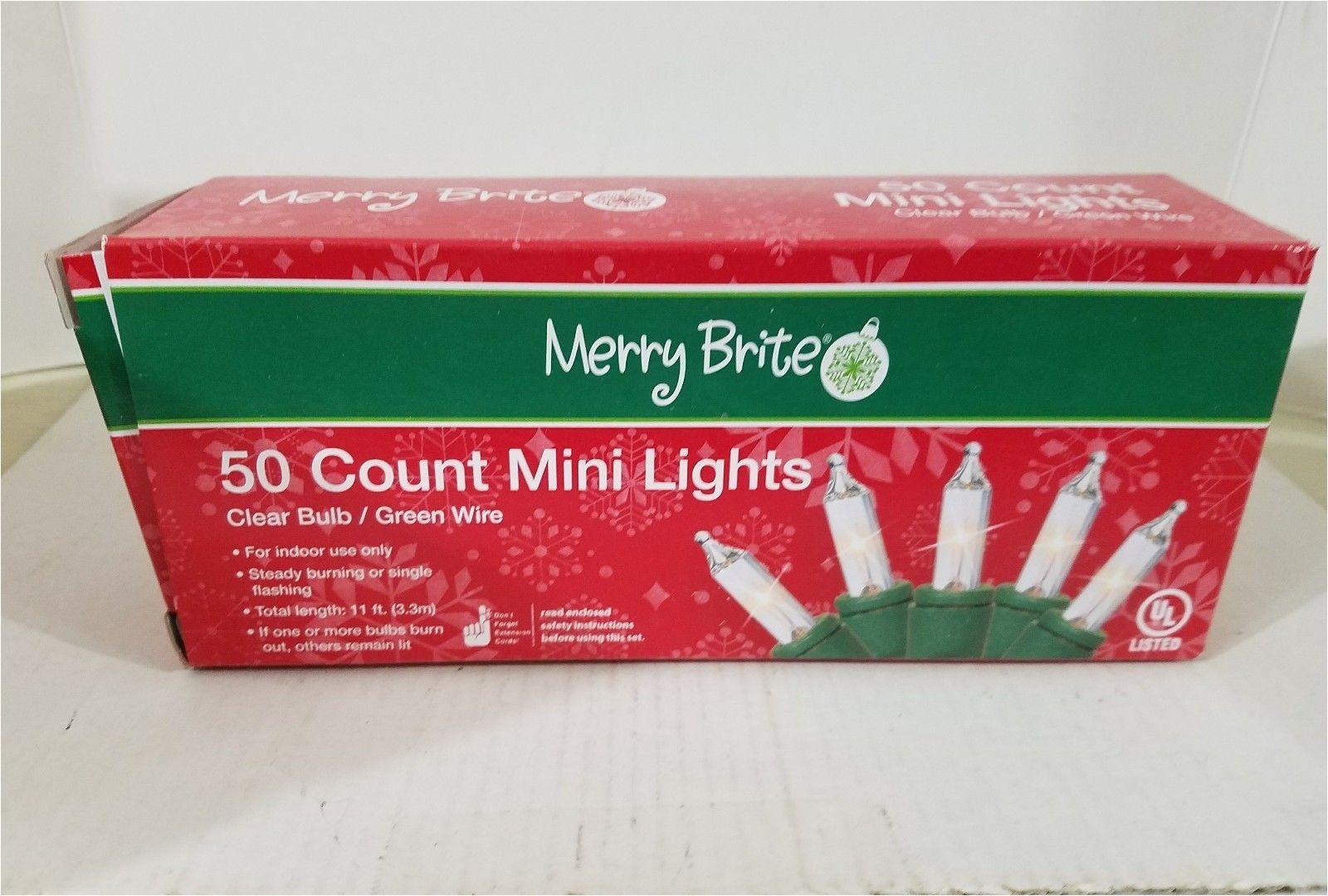Merry Brite Lights Merry Brite 50 Ct Mini Lights Clear Bulb Christmas Lights New