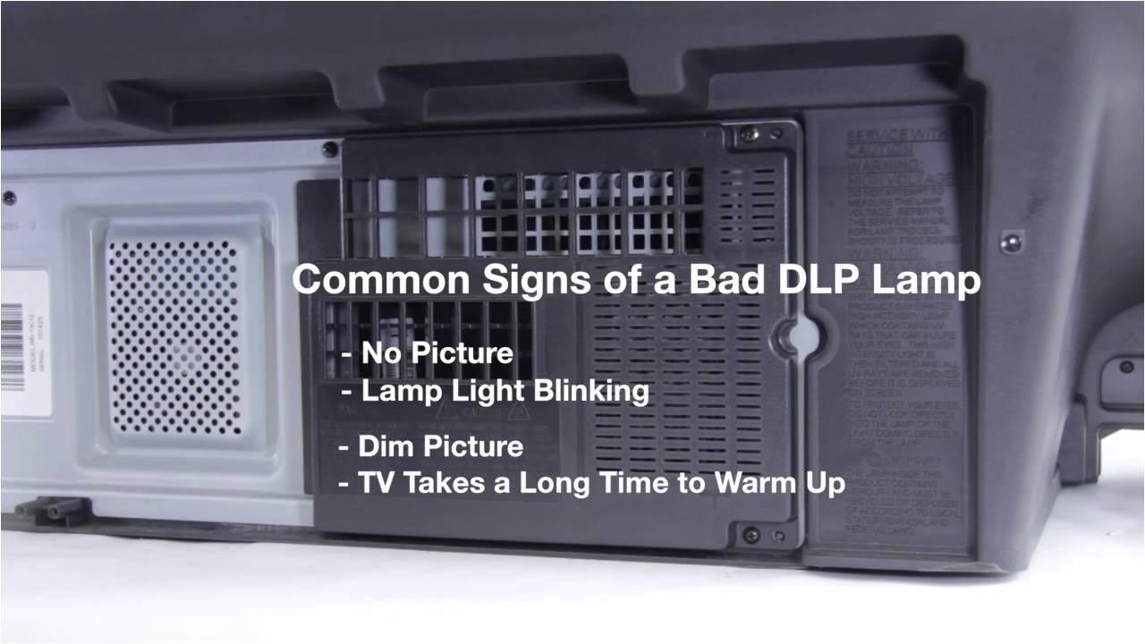 mitsubishi dlp tv repair bad dlp lamp how to fix common dlp lamp issues in mitsubishi dlp tvs youtube