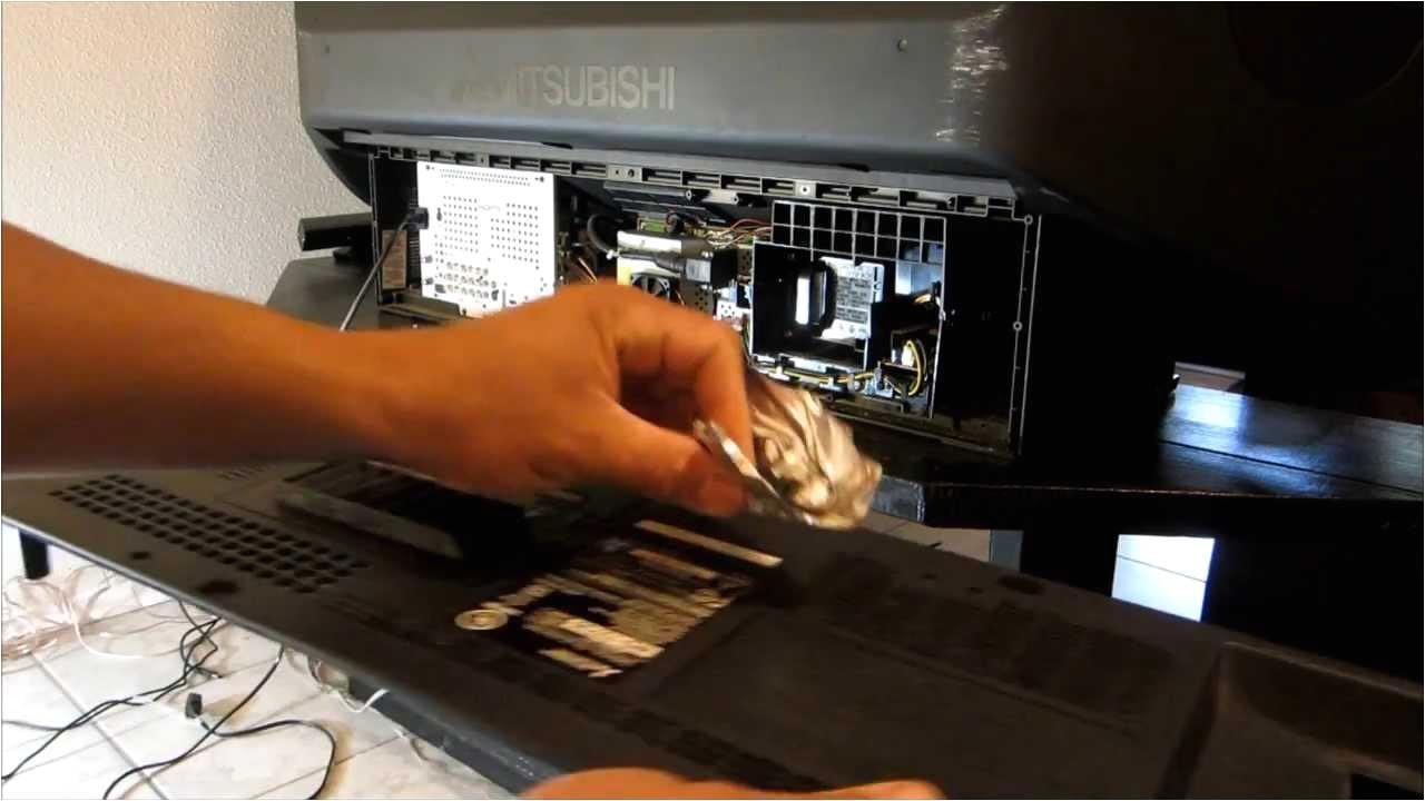 replacing mitsubishi tv dlp chip fixing black and whites dots