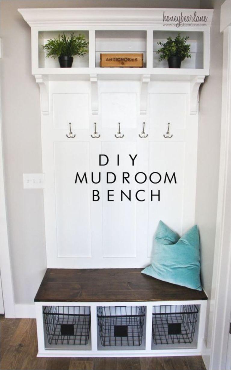 Mudroom Bench Plans Diy Mudroom Bench Diy Ideas Pinterest Mudroom House and Home