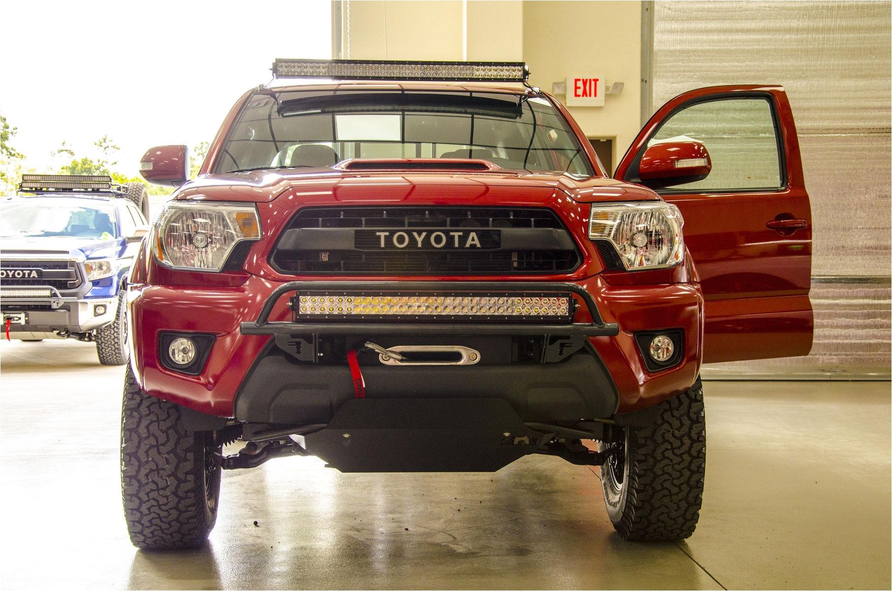 2014 toyota tacoma n fab trd pro build toyota tacoma front leds shot