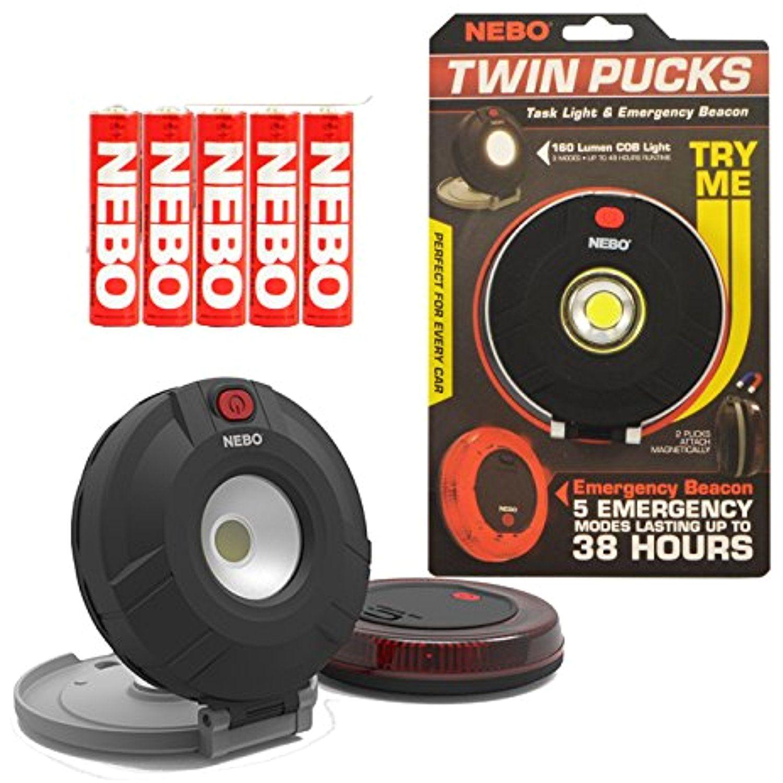 nebo twin pucks task light campinghikingequipment