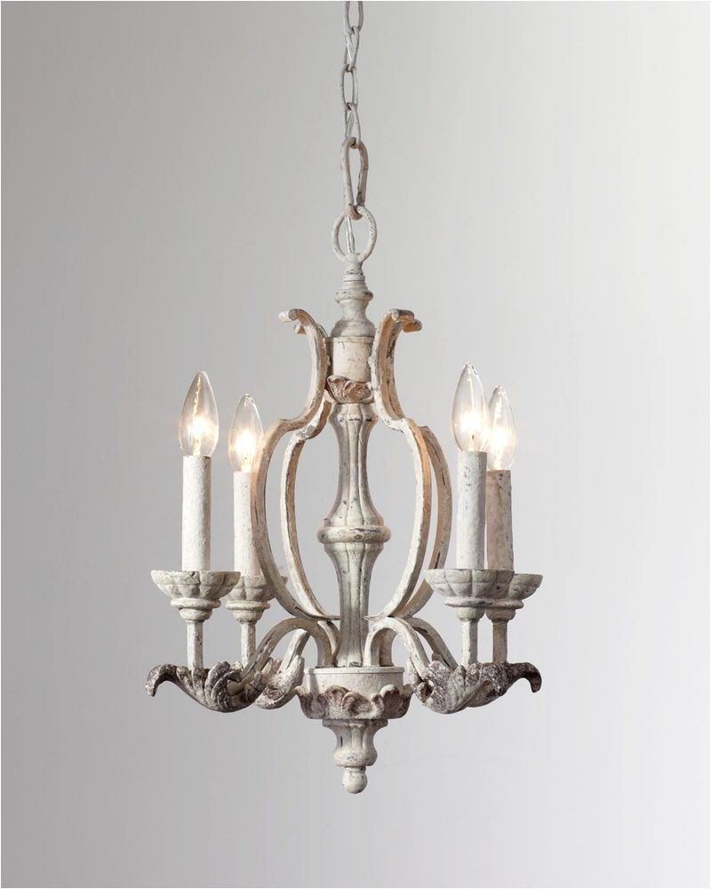 16 x 19 horchow neiman marcus french antique white florence chandelier 379 purehome transitional