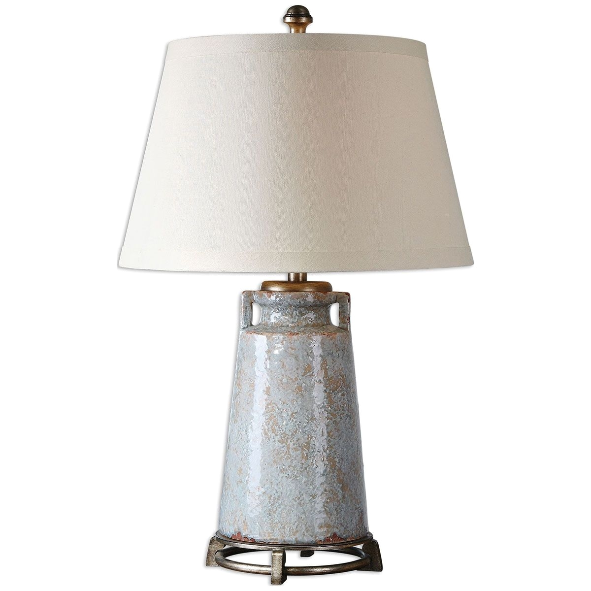 uttermost caminata blue glaze lamp 26557