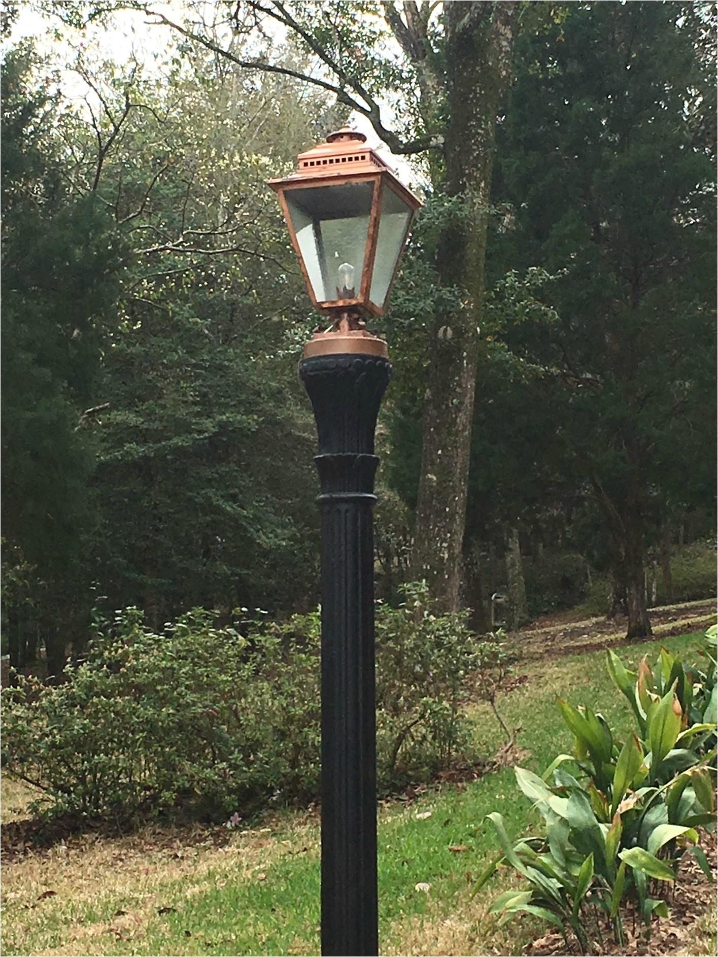 charleston gas light twelve oaks 200 with dennis custom copper mount