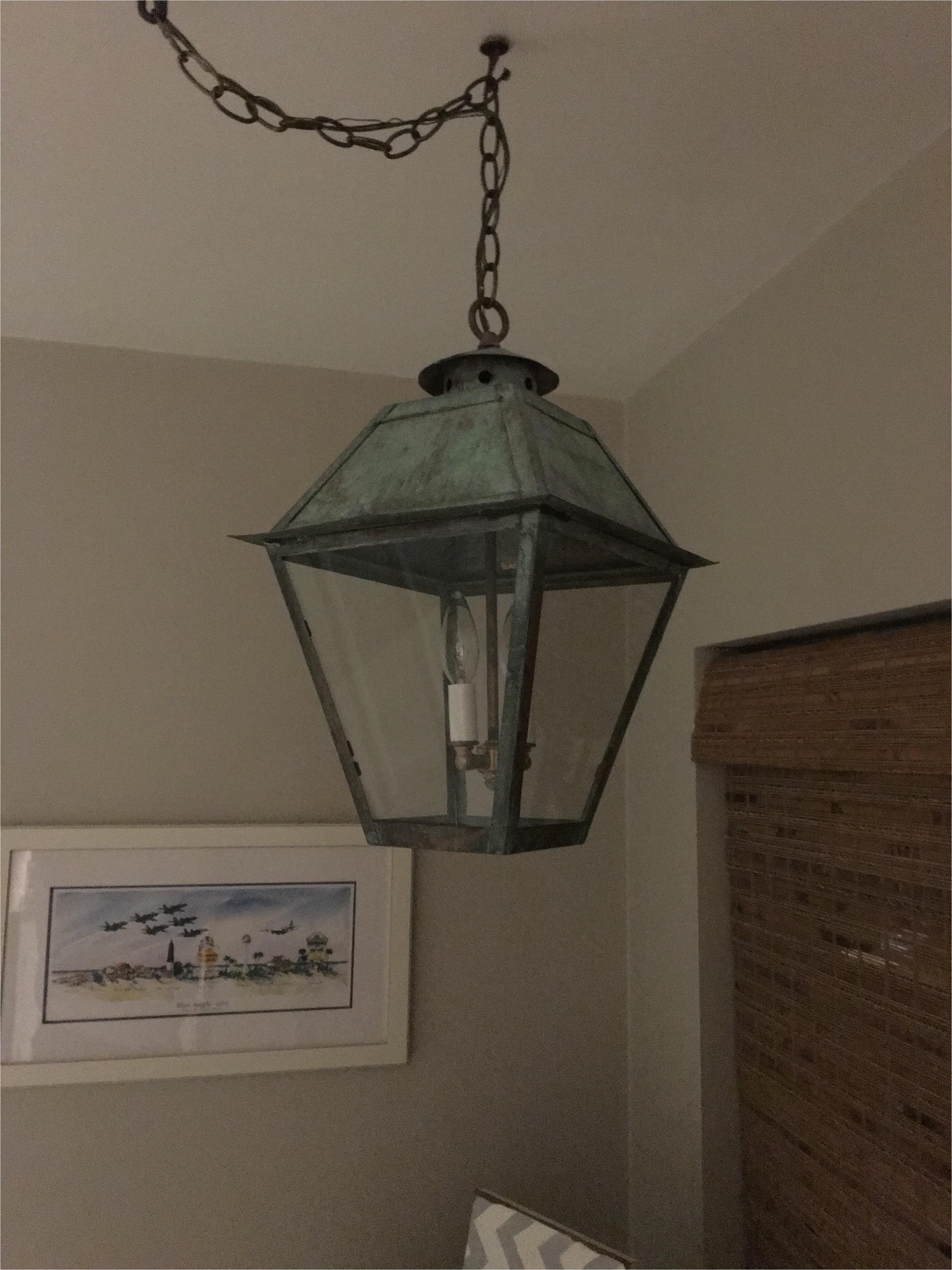 custom hanging electric copper lantern