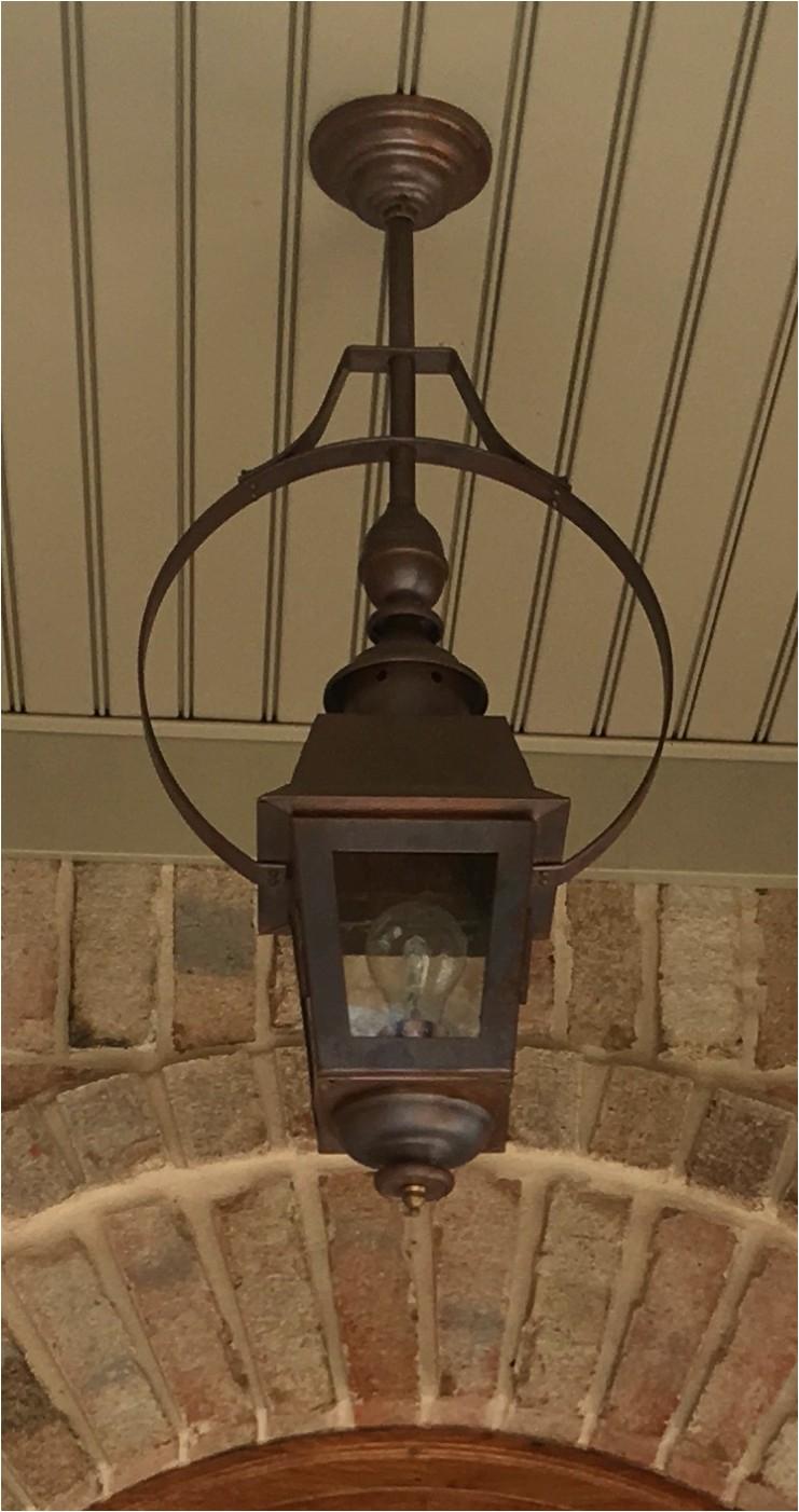 charleston gas light parliament with 2 copper flat bar half yoke mount