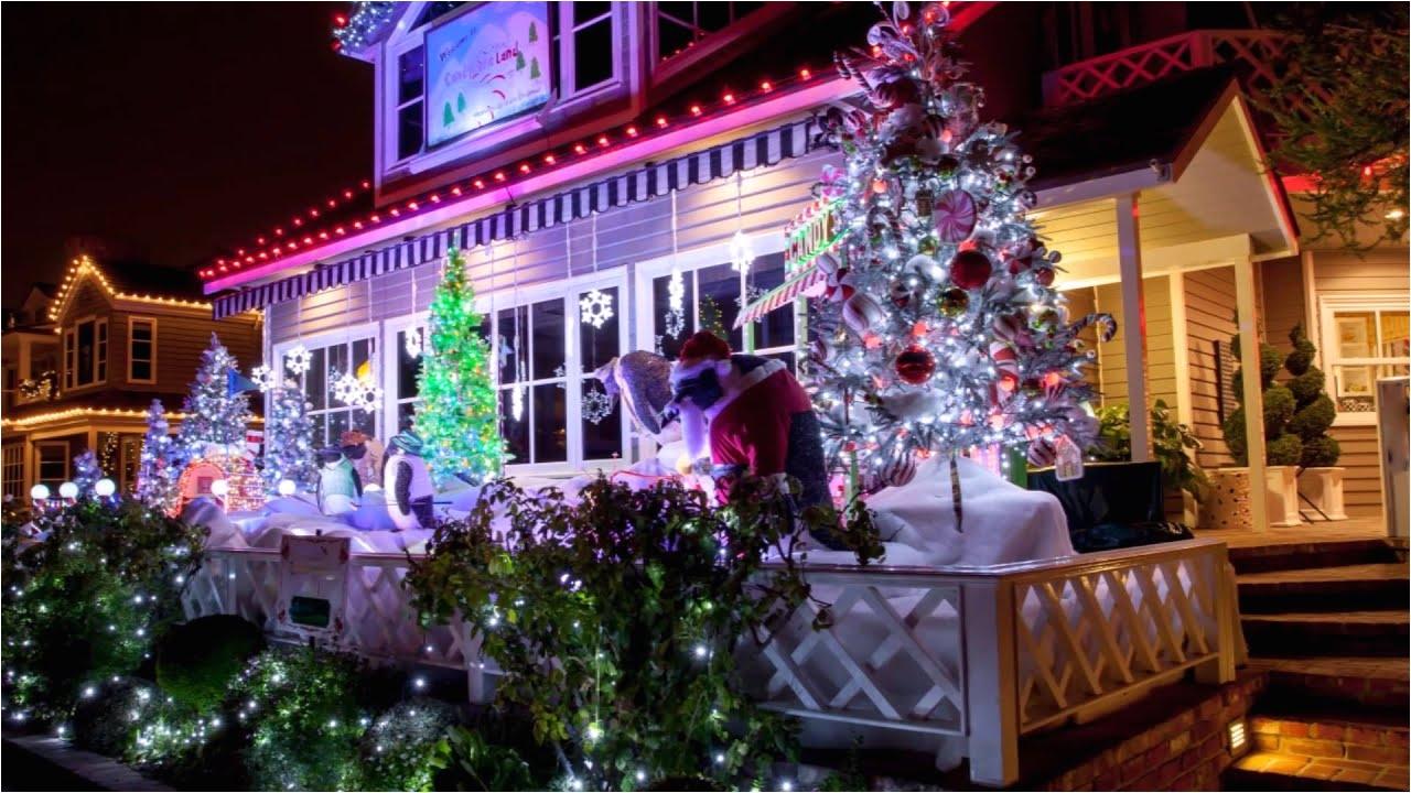 christmas lights on balboa island in newport beach hd you