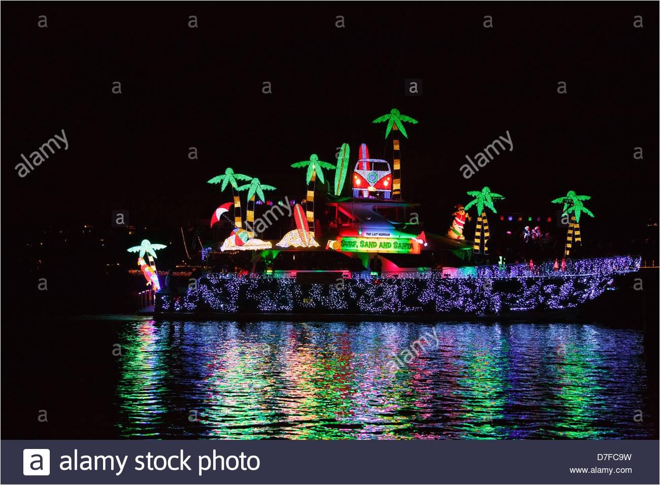 Newport Beach Christmas Lights Cruise.Newport Beach Christmas Lights Cruise Christmas Boat Stock