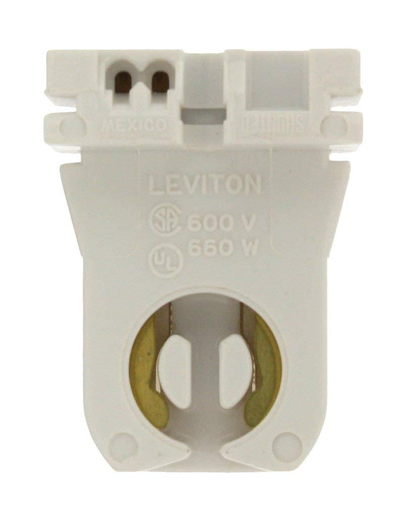 leviton 23351 medium bi pin standard fluorescent lampholder white light sockets amazon com