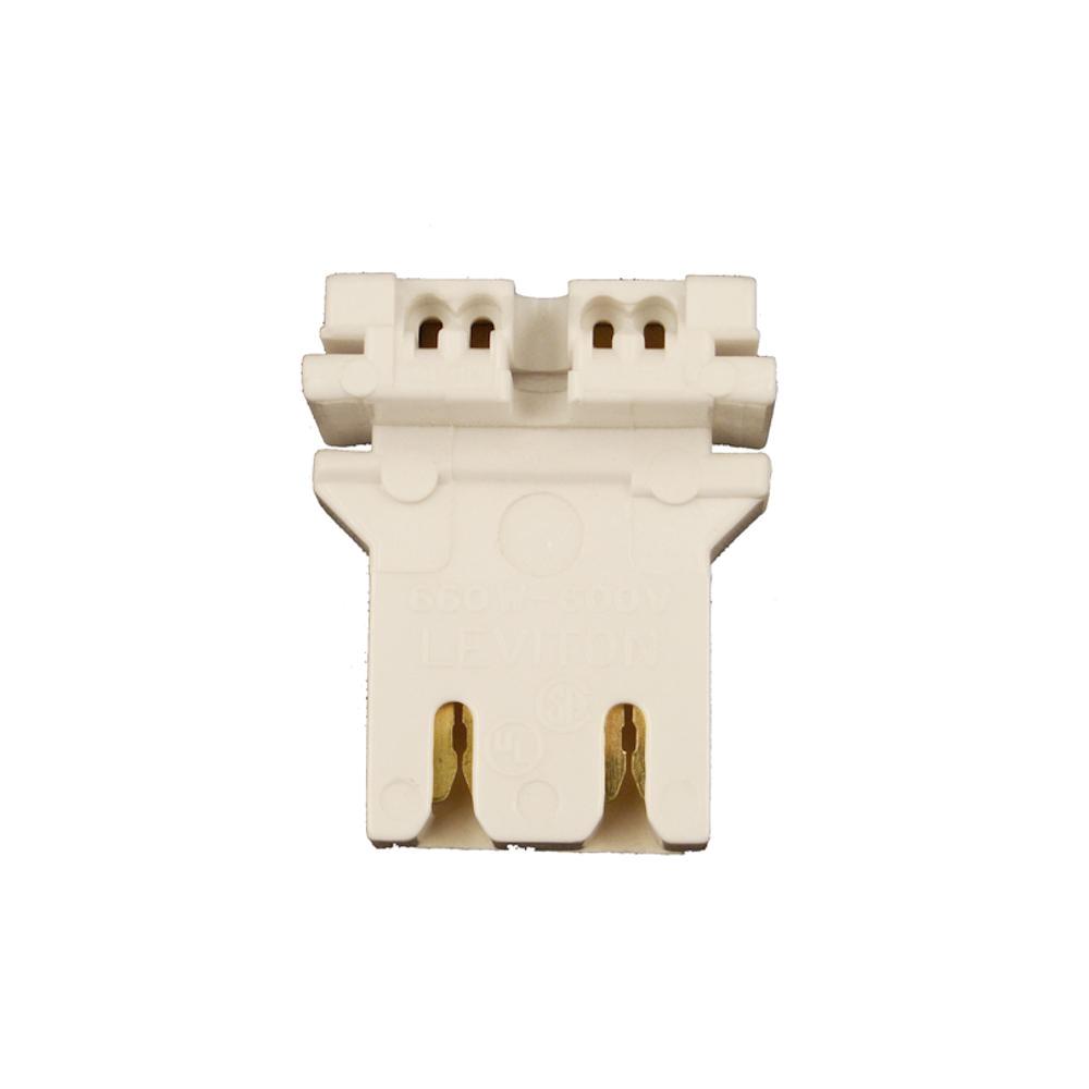 leviton 660w medium base bi pin u shaped lamp slide on self