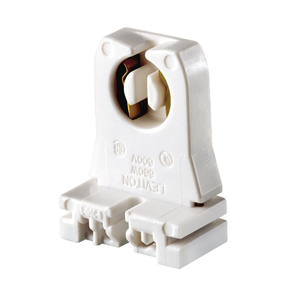 Non-shunted G13 Medium Bi-pin Lamp Holders Leviton 660w Medium G13 Base Bi Pin Low Profile Slide On Turn Type