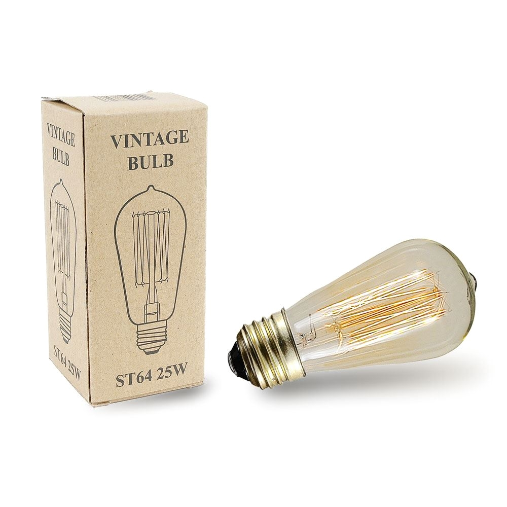picture of st64 vintage edison bulb e26 medium base 25 watt 1 pack