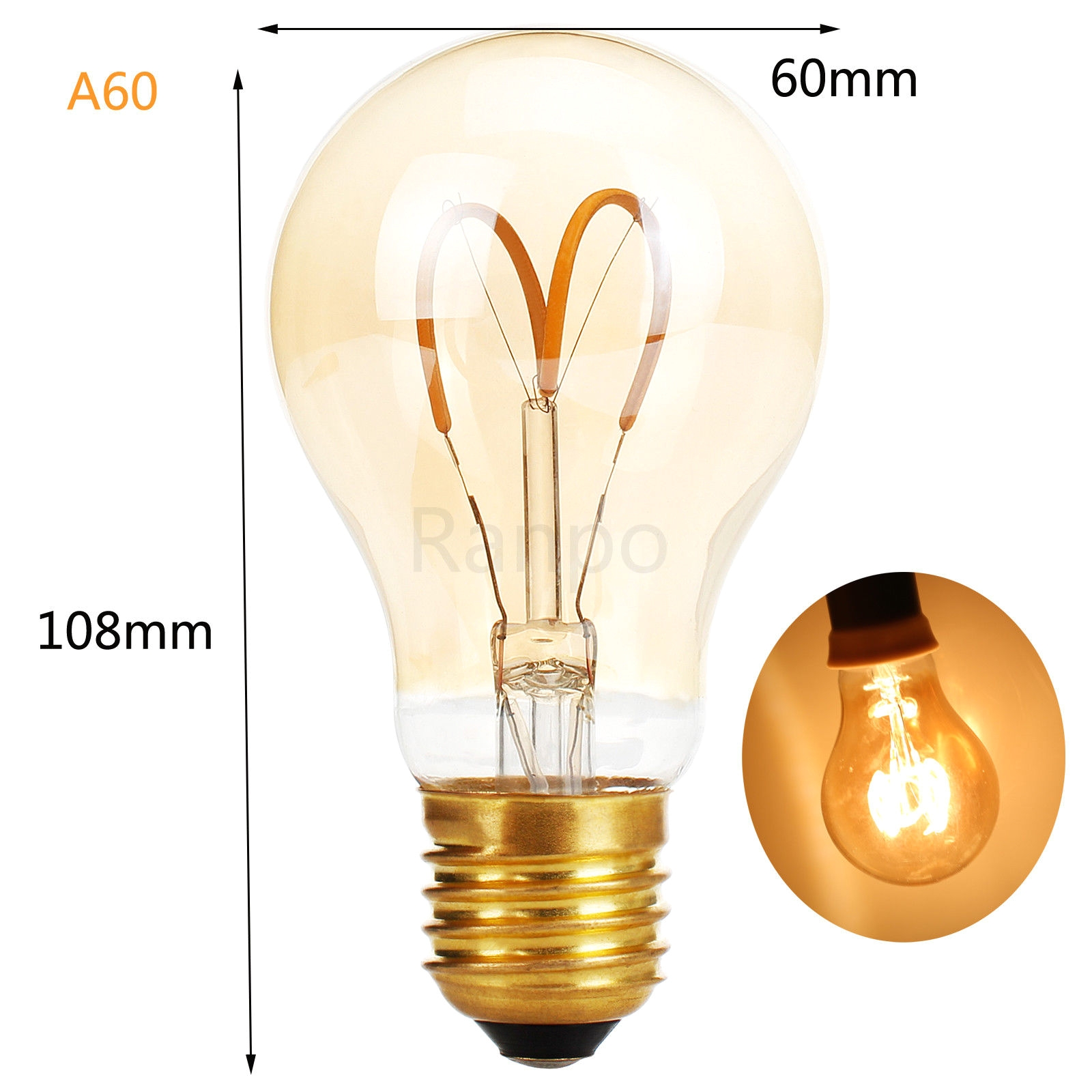 e27 e14 led light bulb lamp vintage retro