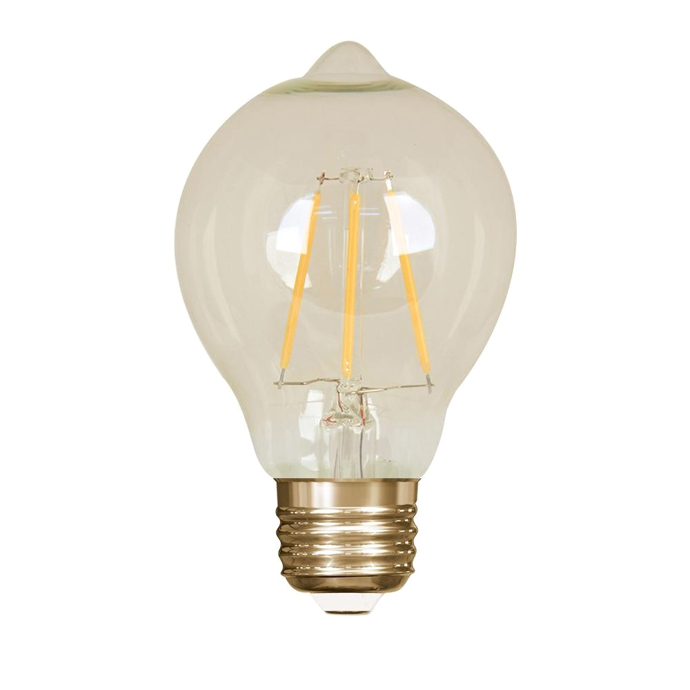 feit electric 60 watt equivalent soft white at19 dimmable led antique edison amber glass filament vintage style light bulb bpat19 led the home depot