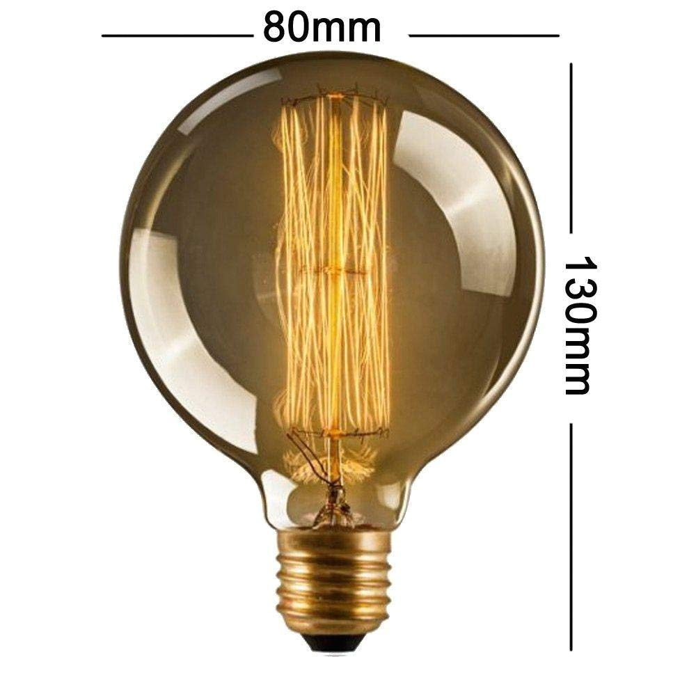 julitech bulbdimmable vintage light bulb retro edison style g80 e27 40w screw spiral globe amazon com