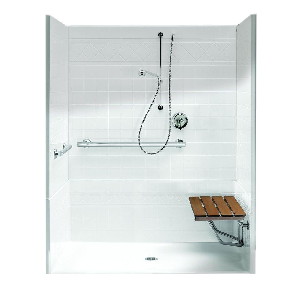 freedomline 63 8 in x 37 1 in x 77 8 in 4 piece shower