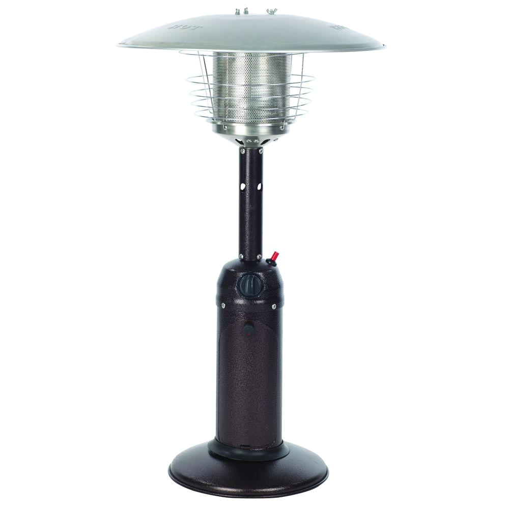 10000 btu hammered bronze tabletop propane gas patio heater