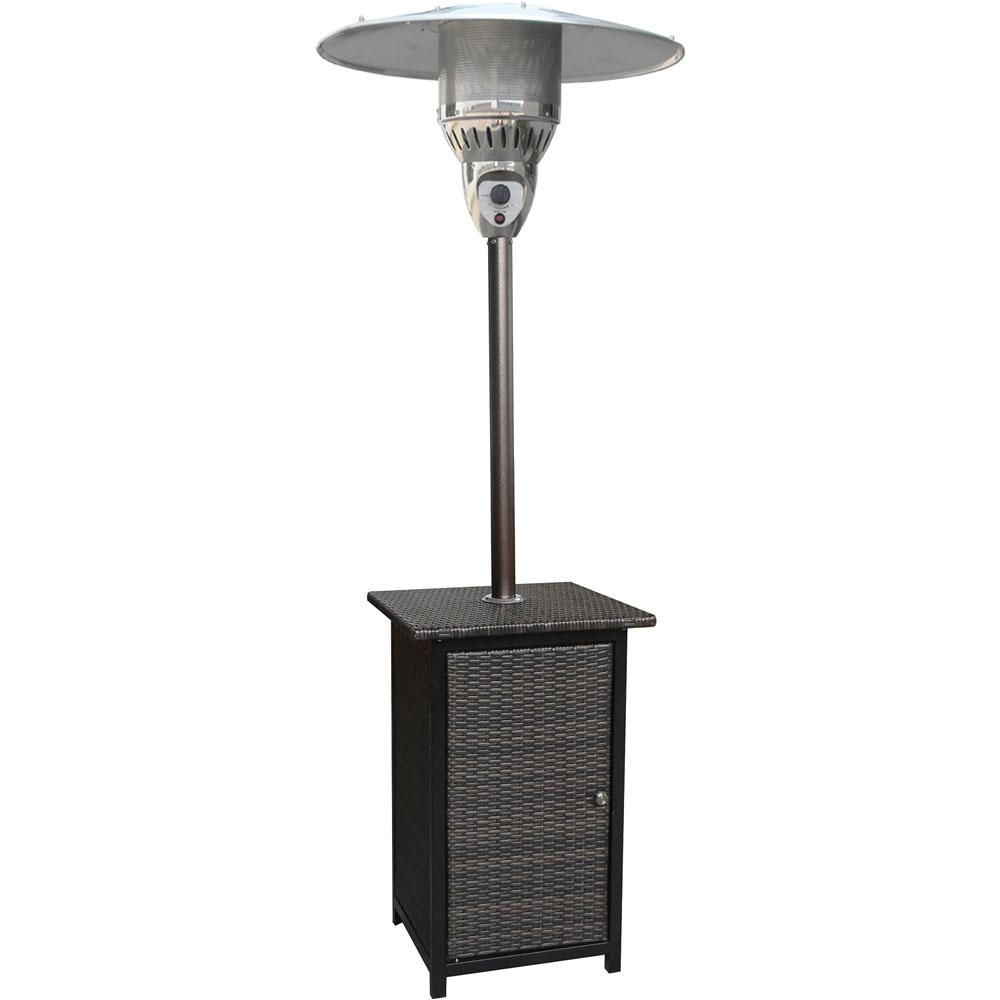 41000 btu stainless steel square propane patio heater