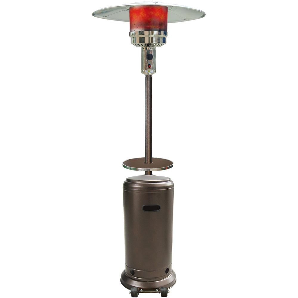 41000 btu hammered bronze finish steel umbrella propane patio