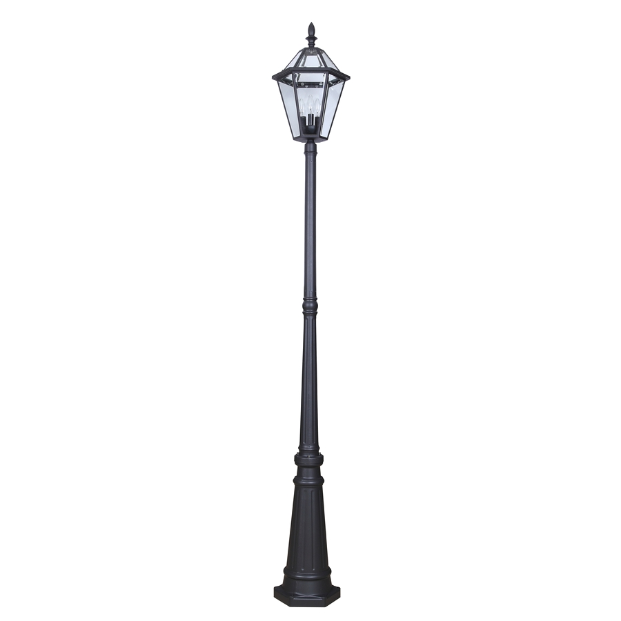 portfolio 88 58 in h specialty textured black post light