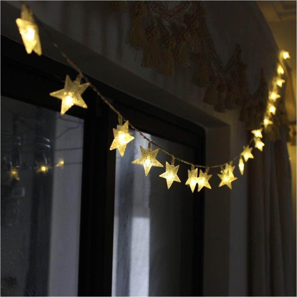 2m led star string lights led fairy lights christmas holiday wedding decoration lights aa battery operate decoration star lights in led string from lights