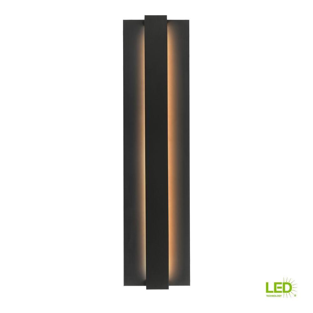 lbl lighting windfall 1 light black outdoor led sconce