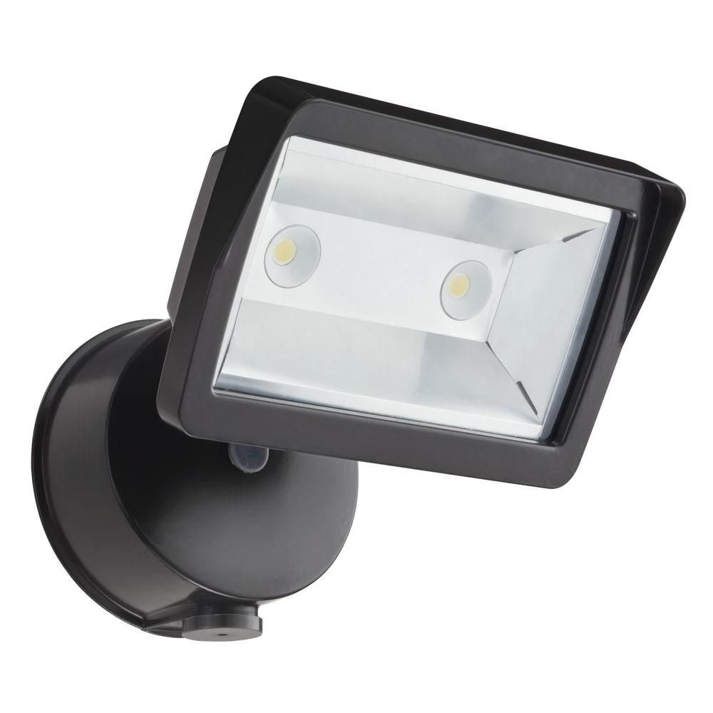 lithonia lighting bronze outdoor integrated led wall mount flood light with dusk to dawn photocell