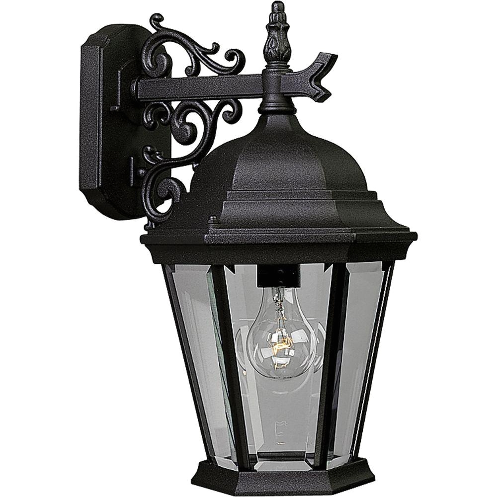 welbourne collection 1 light outdoor textured black wall lantern