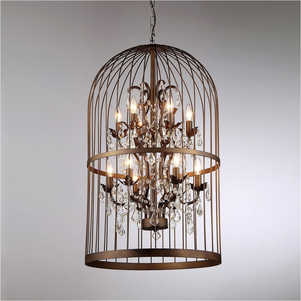 "Overstock Lighting Chandeliers Rinee Cage Chandelier Overstocka""¢ Shopping Great Deals On"