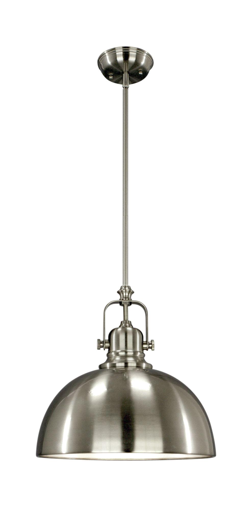 industrial pendant light fixture in brushed nickel or bronze homebegins at www greydock com more