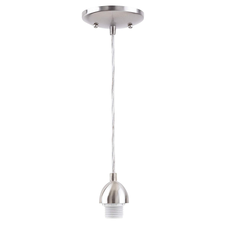 westinghouse lighting 7028400 single light mini pendant kit with nickel finish brushed nickel 2 pack amazon com