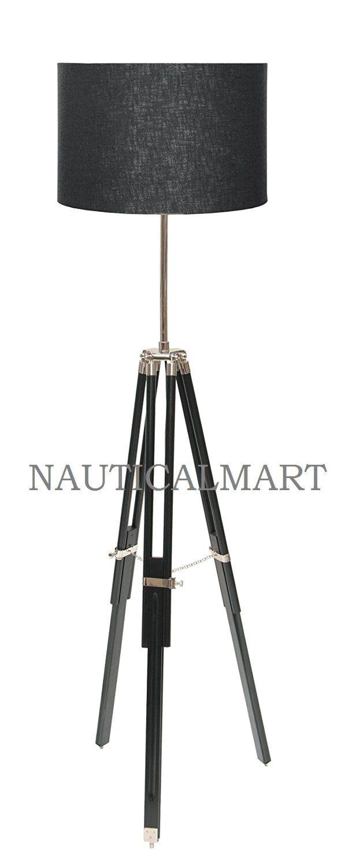 nauticalmart tripod floor black lamp stand amazon co uk lighting