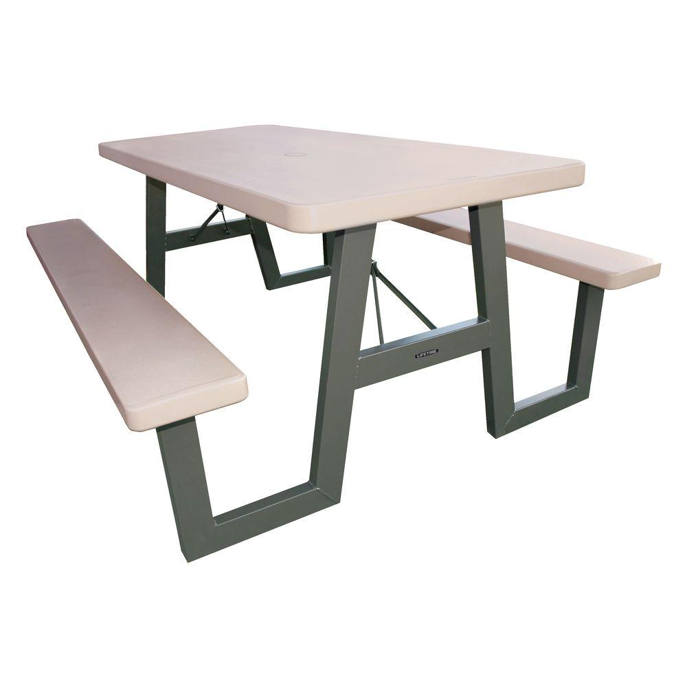 57 in x 72 in w frame folding picnic table